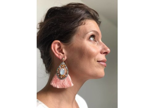 Jewelry Candy Sweet Oorbellen Boho chic coral