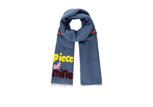 Pom Amsterdam Pom Amsterdam sjaal Piece of Mine blauw