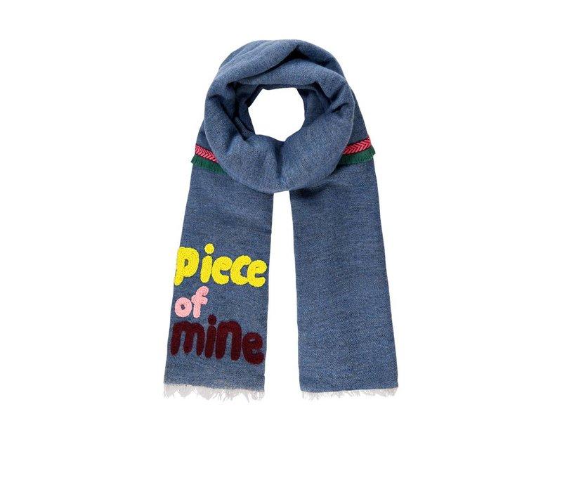 Pom Amsterdam sjaal Piece of Mine blauw