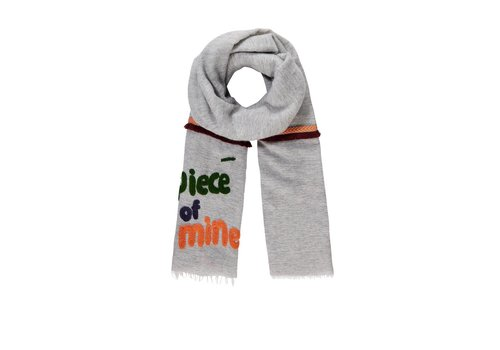 Pom Amsterdam Pom Amsterdam sjaal Piece of Mine grijs