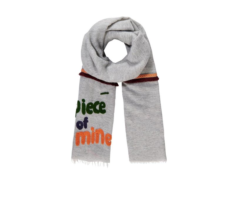 Pom Amsterdam shawl Piece of Mine Grey