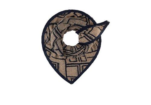Pom Amsterdam Pom Amsterdam sjaal Soft Geometric Taupe