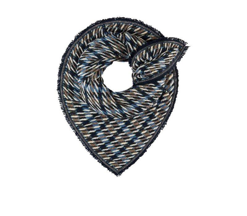 Pom Amsterdam shawl Rainfall Blue