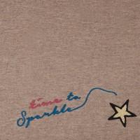 Pom Amsterdam shawl Sparkle Taupe