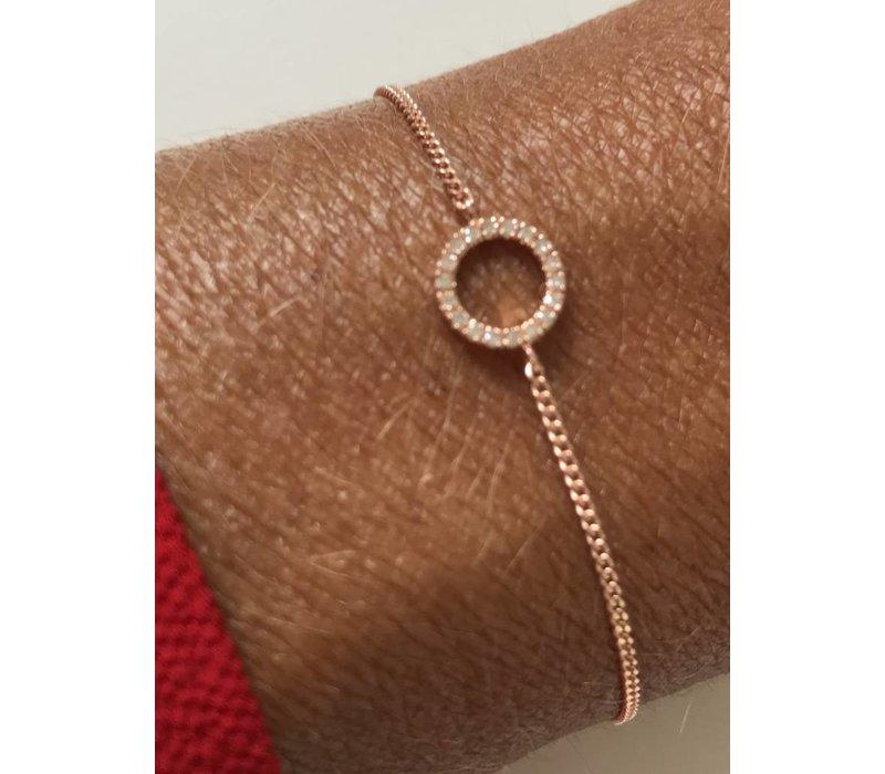 Diamanti Per Tutti Small Full Circle of Life Bracelet Pink