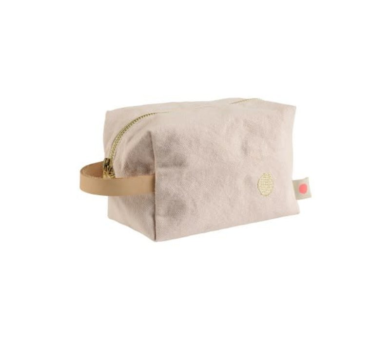 Pouch Cube Lona Biscuit