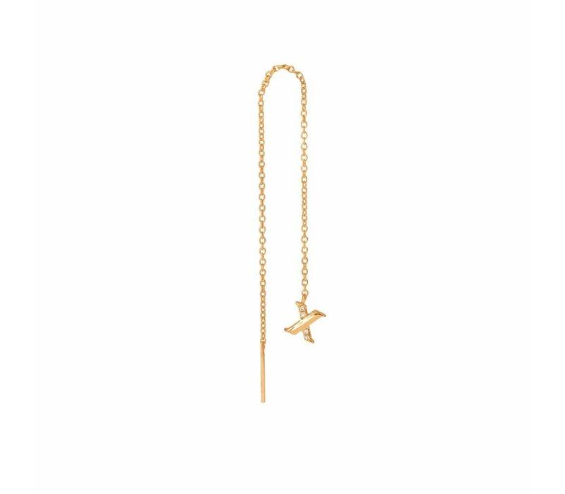 Diamanti Per Tutti X-ray single oorbel goud