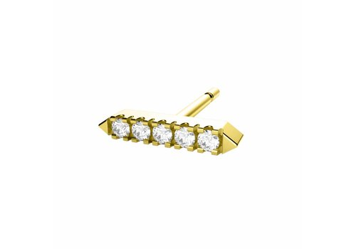 Diamanti per Tutti Diamanti Per Tutti Awake Earring Single Yellow