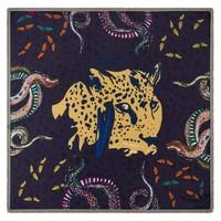 Pom Amsterdam Sjaal Wild Leopard Burgundy