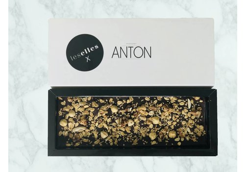"LesElles X Anton Chocolade puur crunchy  ""Fitness"""