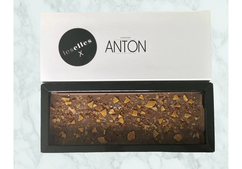"LesElles X Anton Chocolade melk karamel en zeezout  ""Guilty Pleasure"""
