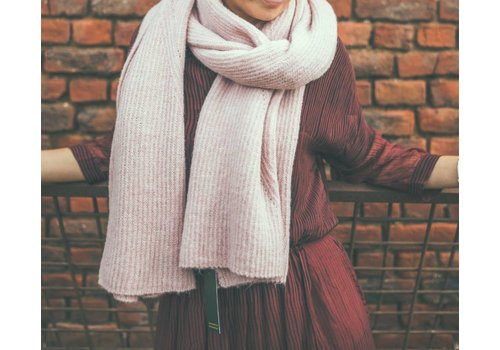 LesElles Knitwear LesElles Knitwear Sjaal Hélène rose