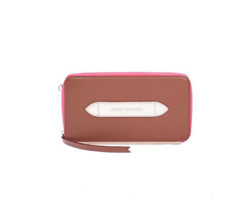 Wallet Wally Cognac - Rose Gold