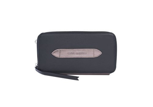 Marie Martens Portemonnee Wallet Wally Black - Metal