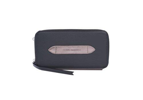 Marie Martens Portemonnee wallet Wally zwart - Metal