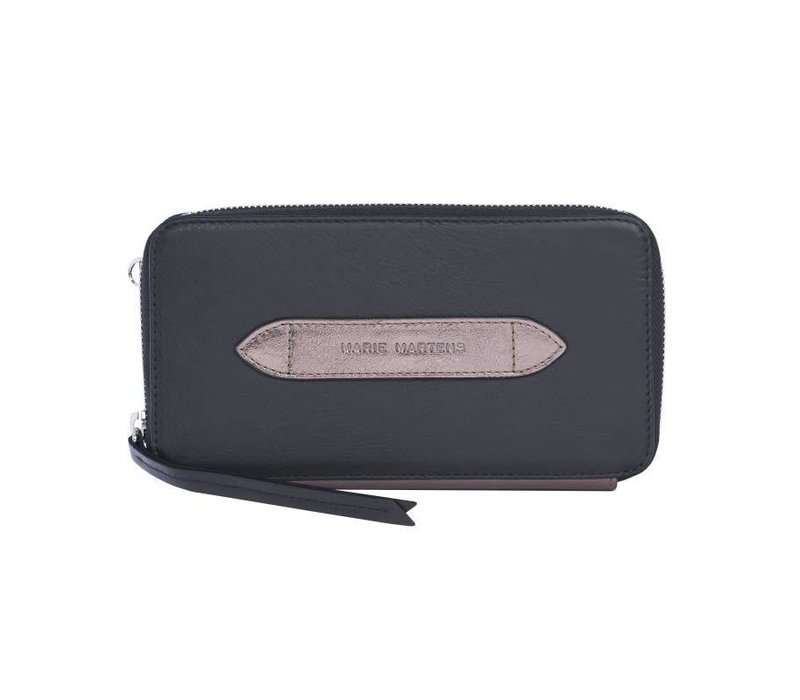 Portemonnee wallet Wally Black - Metal