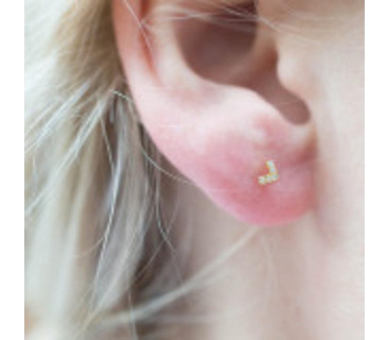Diamanti Per Tutti Agra Earring Single Pink