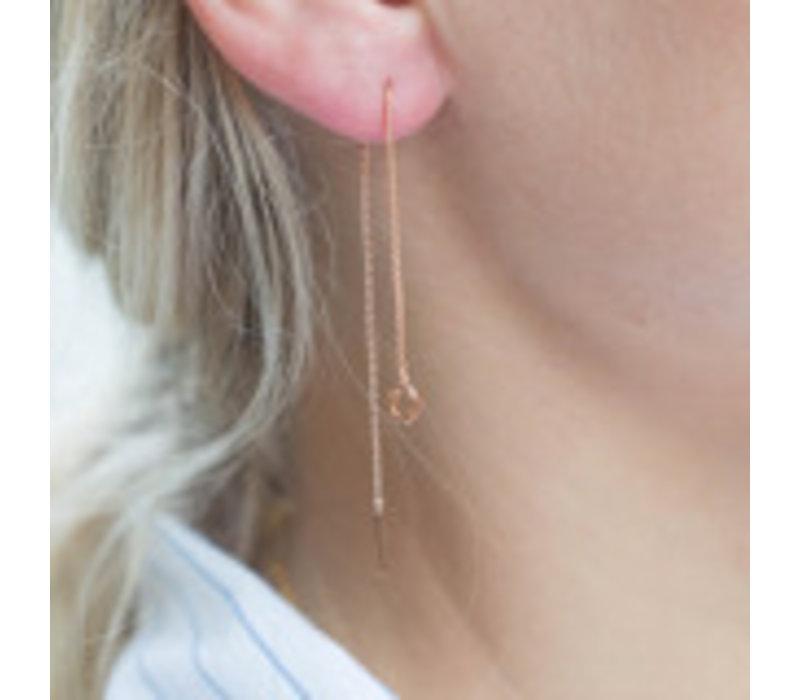Diamanti Per Tutti O-ray single oorbel wit