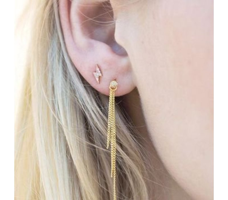 Diamanti Per Tutti Thunder Earring Single Pink