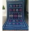 Maroc Handmade Tapijt kelim handmade blauw 242 x 135 cm