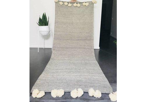 Maroc Handmade Blanket handmade fijne streep ecru/zwart 275 x 215 cm