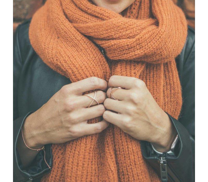 LesElles Knitwear Shawl Jille  rusty