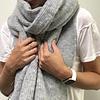 LesElles Knitwear LesElles Knitwear Shawl Hélène grey