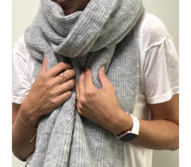 LesElles Knitwear Sjaal Hélène lichtgrijs