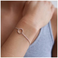 Diamanti Per Tutti Small Circle of Life Bracelet Pink 16 cm
