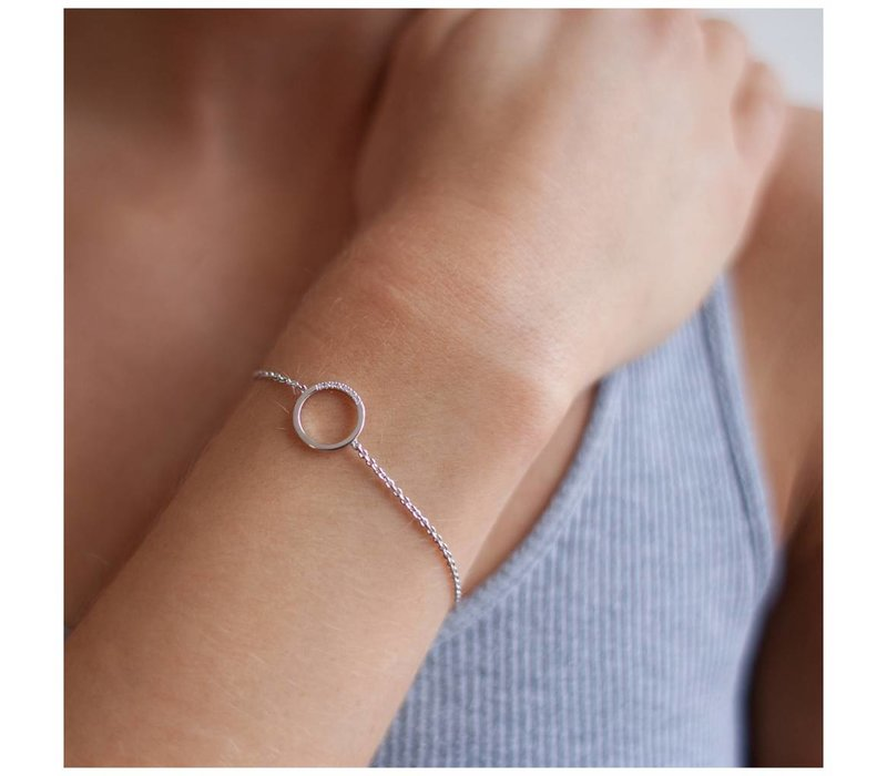 Diamanti Per Tutti Small Circle of Life Bracelet White 16cm