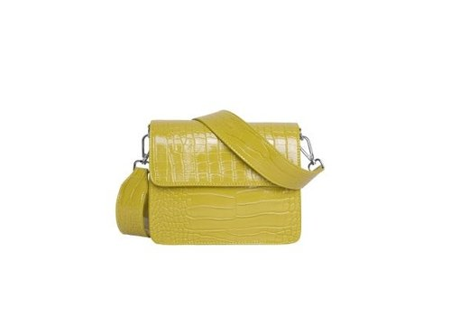 Hvisk Hvisk cayman shiny schoudertas yellow