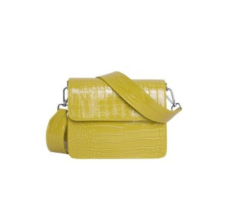 Hvisk cayman shiny schoudertas yellow