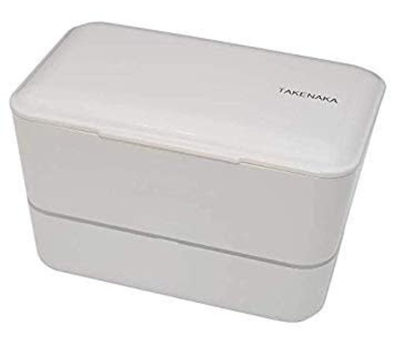 Takenaka Bento lunchbox dubbel glacier wit