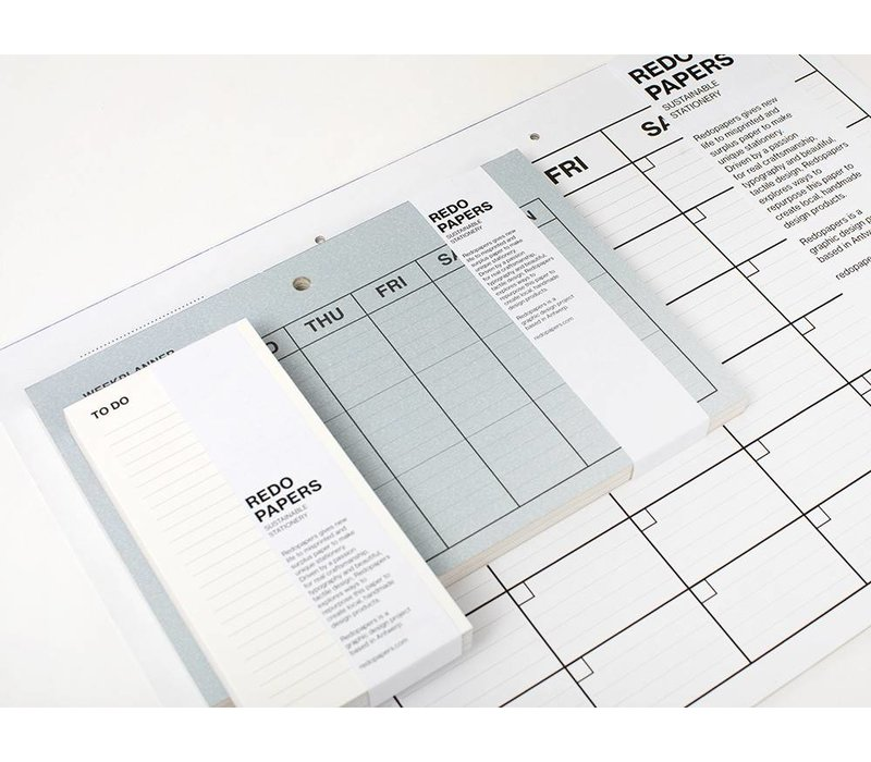 Re-do papers weekplanner