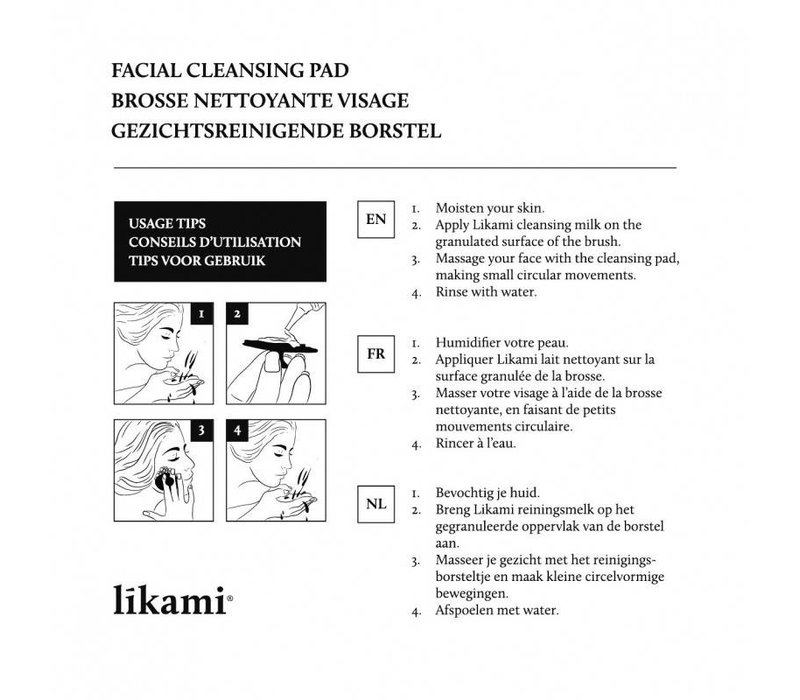 Likami cleansing milk 200ml + facial pad
