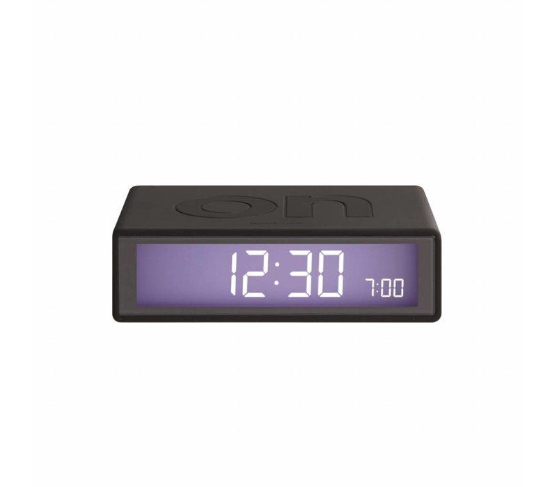 Lexon Clock 2 Flip Wekker donkergrijs