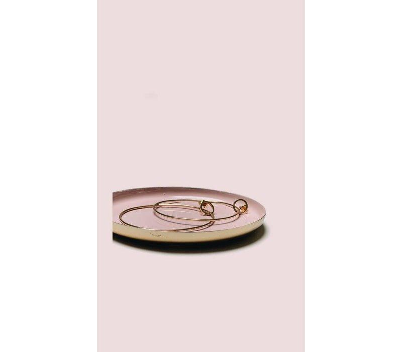 Klevering schaaltje rond metaal pink