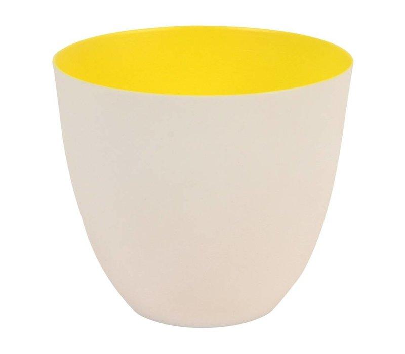 Klevering theelichthouder yellow large