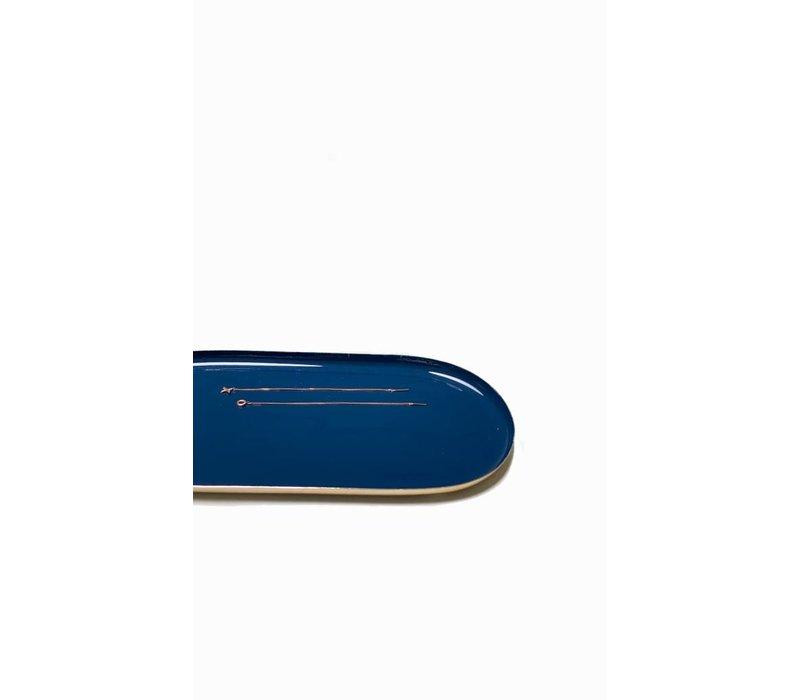Klevering schaaltje ovaal metaal blue