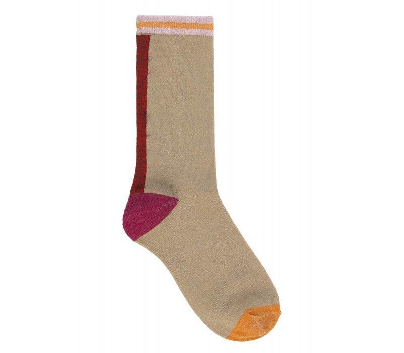 Becksôndergaard sokken Dalea Mix Red love