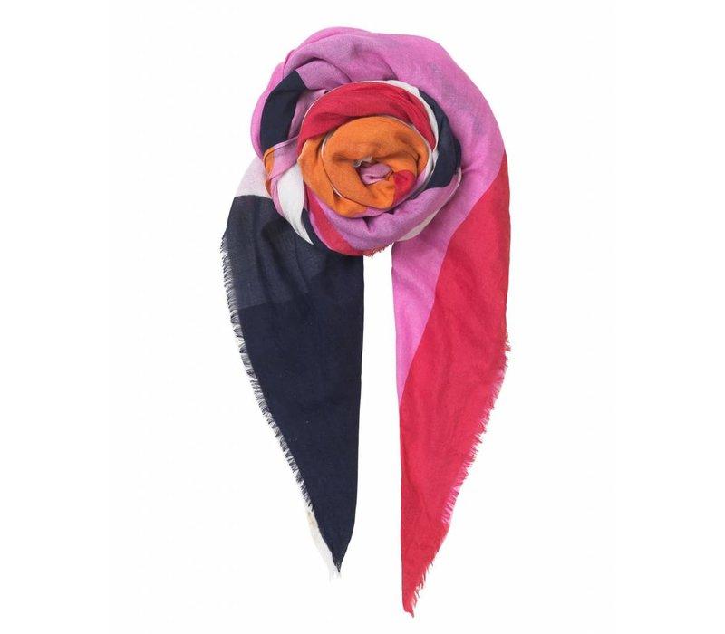 Becksöndergaard sjaal  love fuchsia pink