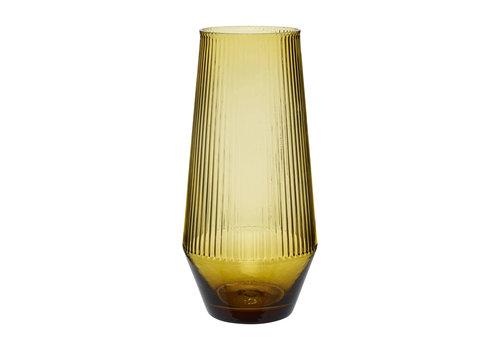 Hübsch Hübsch vaas glas amber