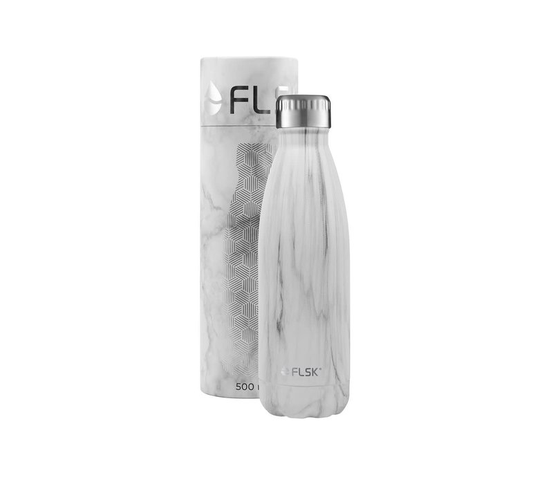 Drink bottle Flask white marble  500 ml
