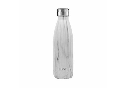 Flask Drink bottle Flask white marble  500 ml