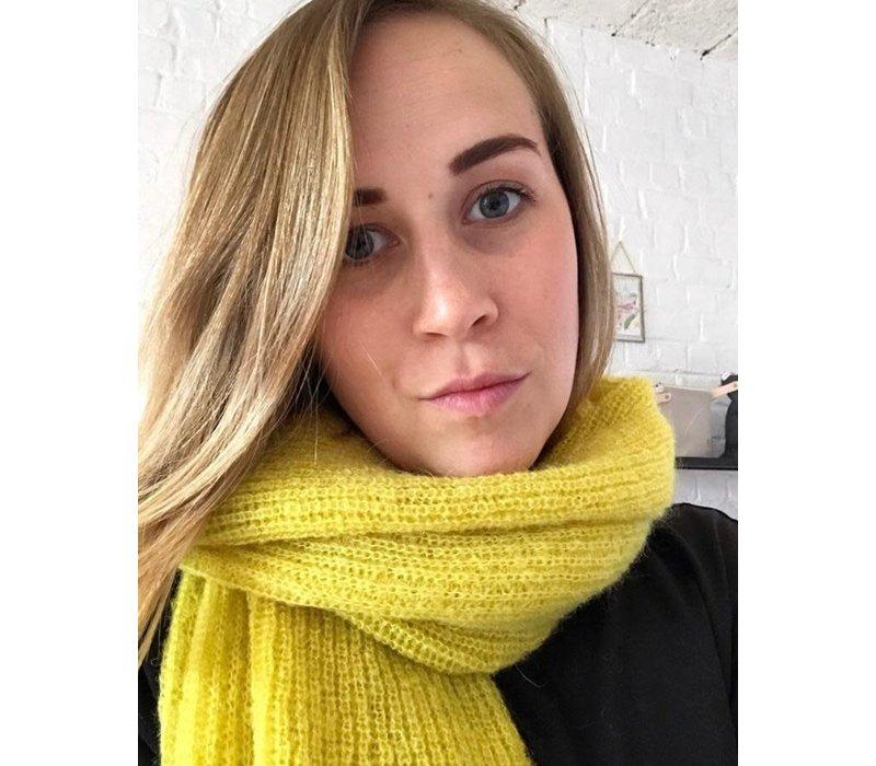 LesElles Knitwear Shawl Jille lemon zest