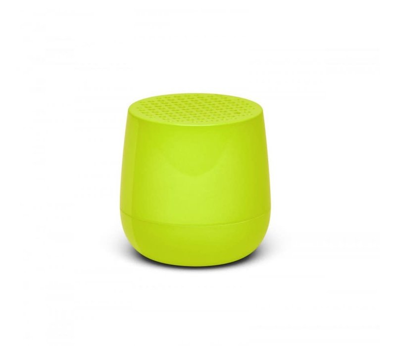 Lexon Mino Mini Bluetooth Speaker fluo geel glossy