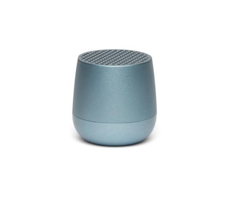 Lexon Mino Mini Bluetooth Speaker metal light blauw