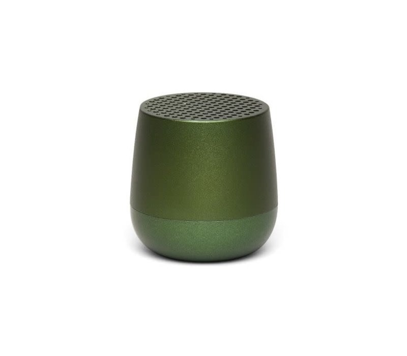 Lexon Mino Mini Bluetooth Speaker metal dark groen