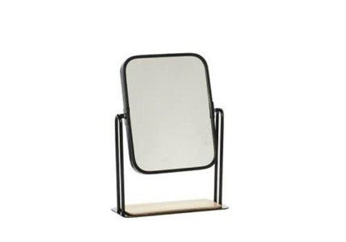 Hübsch Hübsch tafel spiegel zwart