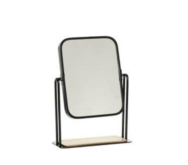 Hübsch tafel spiegel zwart